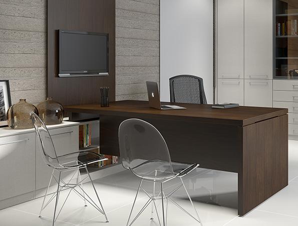 Modelo de escritorio em casa escritrio integrado ao - Modelos de escritorios ...