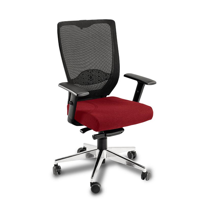 Cadeira Presidente Mesh Alumínio