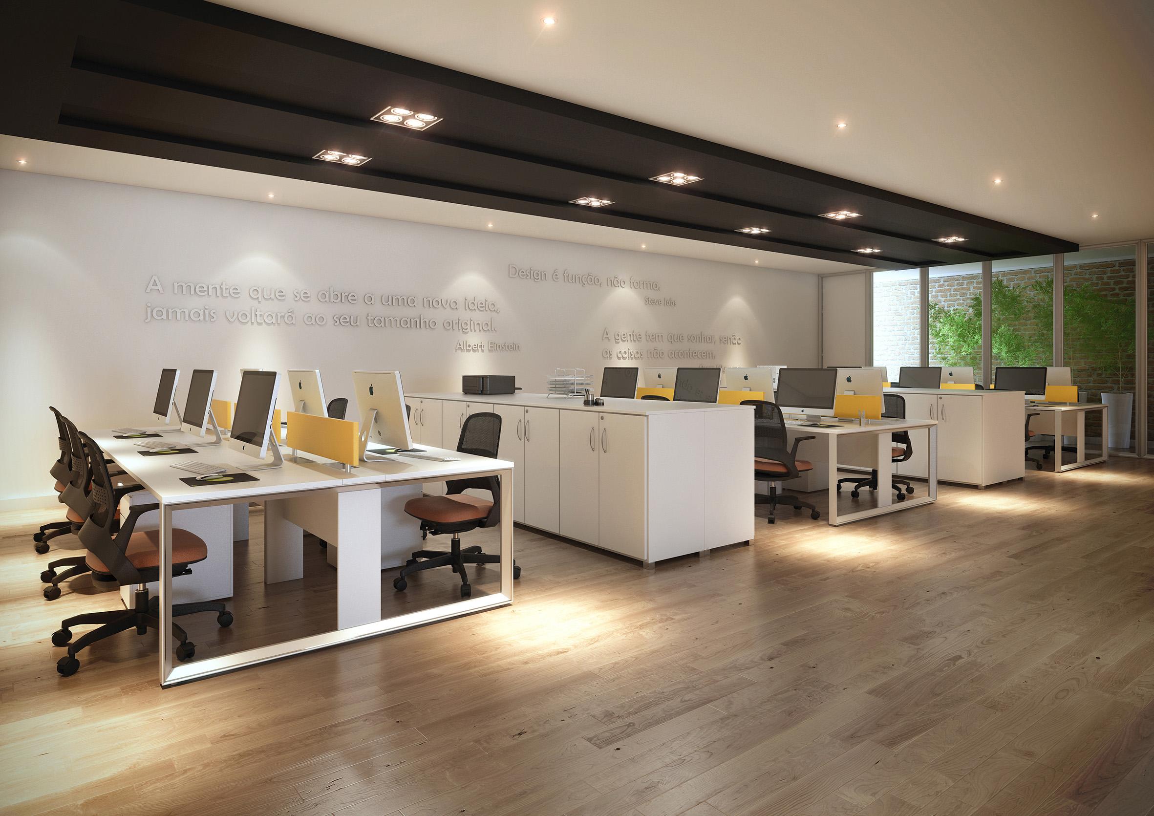 Estações de Trabalho Aluminium da RS Design. Leveza e resistência para espaços corporativos.