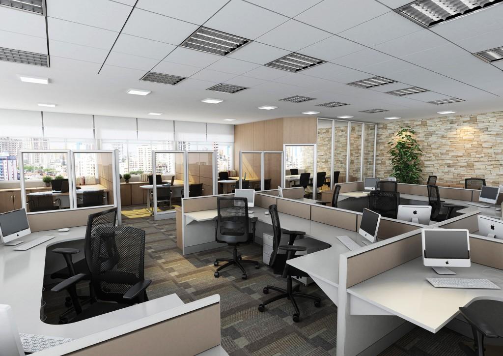 Escritório com Estação de Trabalho SSL8 que permite fácil remanejamento para um novo layout e motivação da equipe