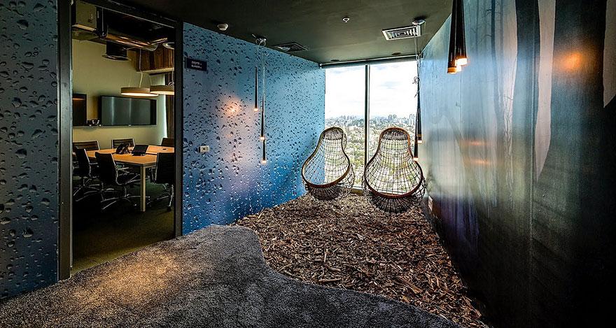 Área de relaxamento do Google, próxima da área de staff. Crédito: Divulgação Boredpanda.com