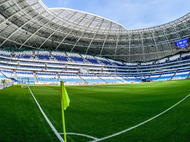 Visão interna do Samara Stadium, na Rússia. Crédito: Reprodução FIFA