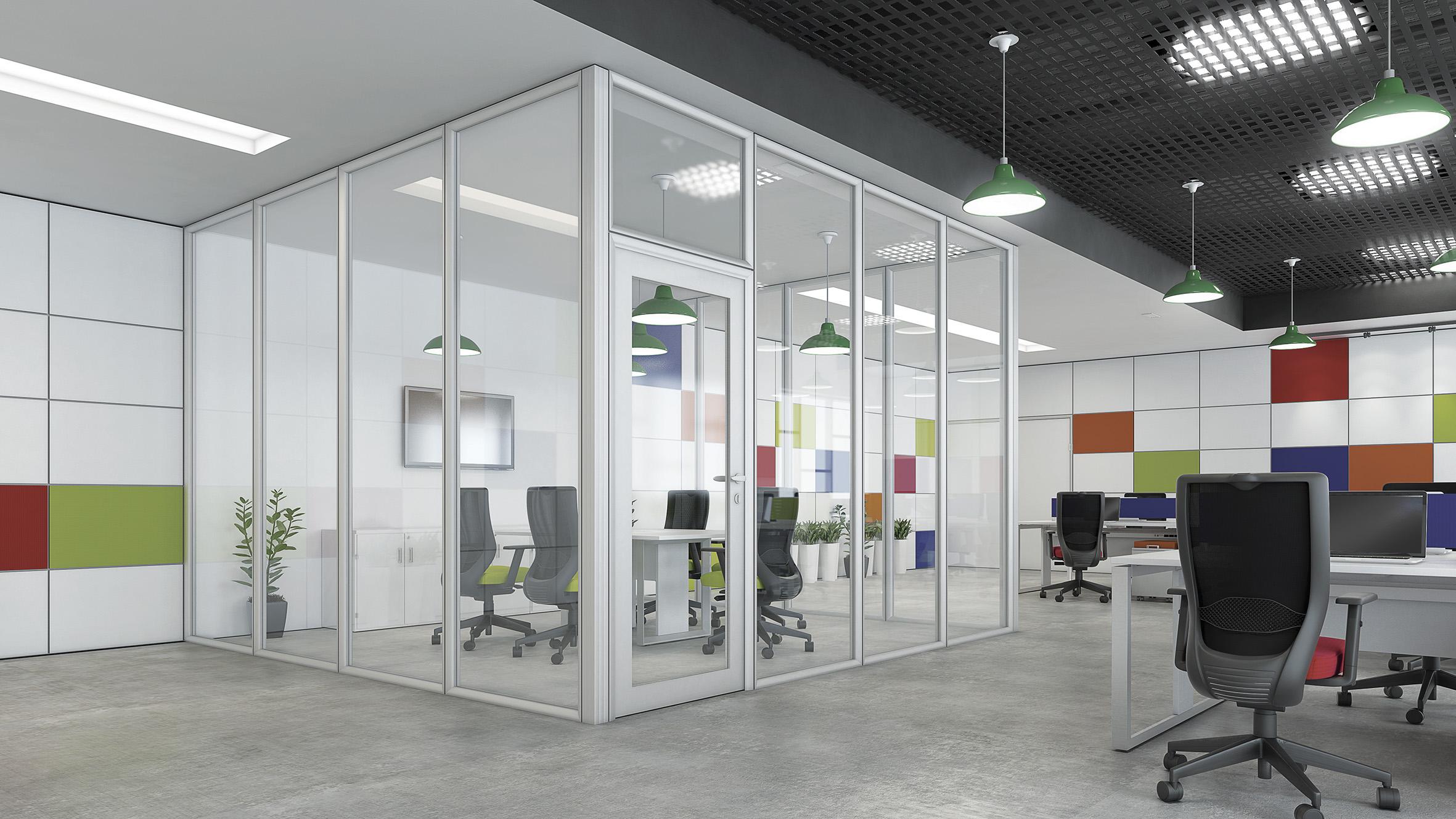 Espaço para atividade concentrada com Divisórias de Vidro da RS Design.