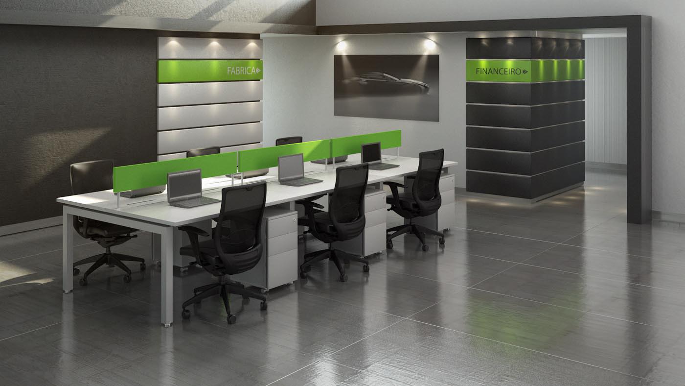 Sinalização indicando os setores da empresa. Crédito Divulgação RS Design