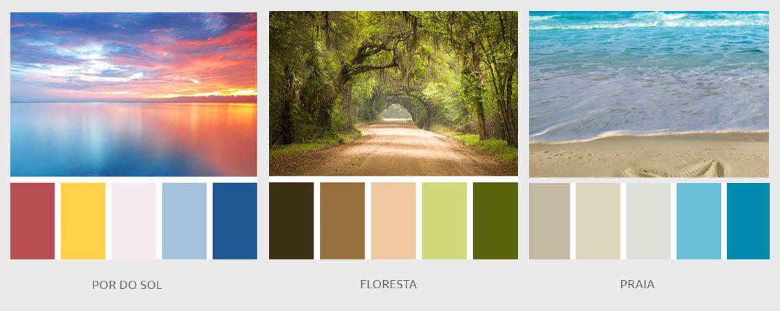 """As cores da natureza já estão """"registradas no DNA"""" da humanidade e por isso são facilmente aceitáveis pelo cérebro."""