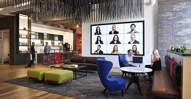 Conexões e flexibilidade são características do escritório da Vocon em Cleveland