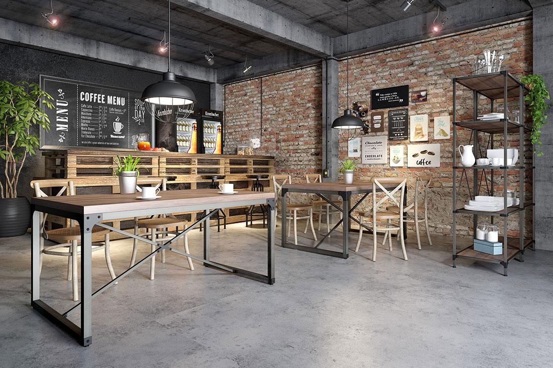 Restaurante com mobiliário (mesas, cadeiras e estante) da RS Design, que juntamente com o ambiente bem preparado transmitem muito aconchego, estimulando a vontade de permanecer no local e até influenciando a percepção da comida.