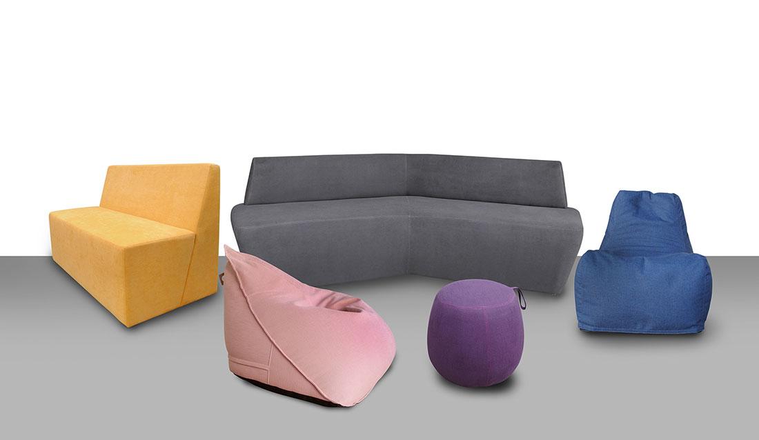 Linha de mobiliário exclusivo e informal da RS Design para complementar espaços comerciais, com o objetivo de envolver o consumidor de forma criativa.
