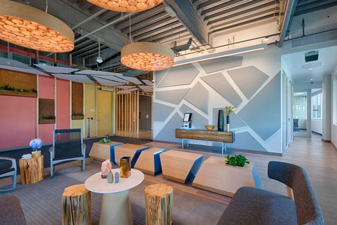 O novo espaço, em homenagem a produção de sal,na sede do Google em Mountain View, Califórnia, EUA., é referência de projeto para empresas jovens e antenadas nas tendências de mercado.