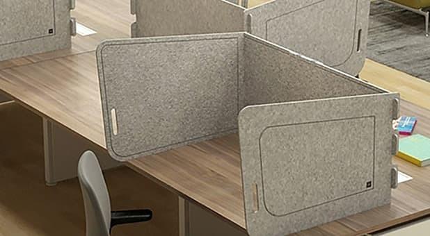 Painéis de proteção da RS Design, acústicos, móveis e fáceis de higienizar.
